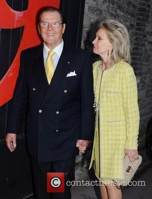 Roger Moore and Jeanne Marine