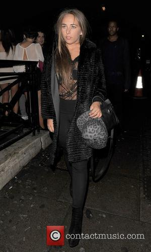 Chloe Green leaving Aura nightclub. London, England - 19.01.12