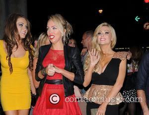 Nicola McLean and Aisleyne Horgan-Wallace arriving at Aura Club,  London, England - 18.09.12