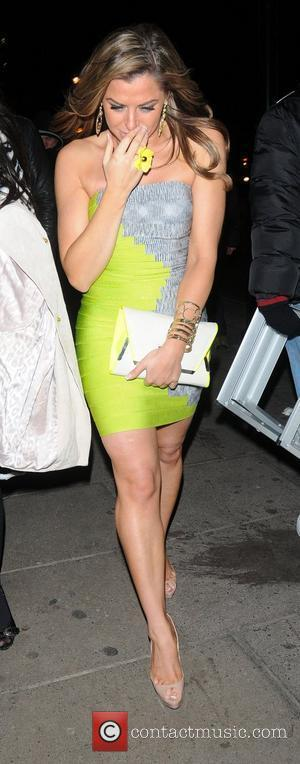 Louise Glover arriving at Aura nightclub London, England - 08.02.12