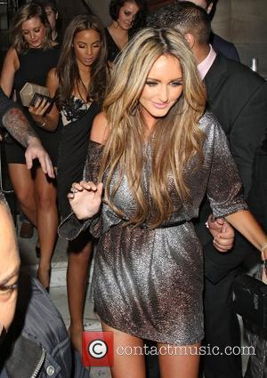 Georgina Dorsett leaving Aura nightclub London, England - 21.03.12