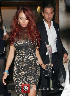 Amy Childs and David Peters leaving Aura nightclub London, England - 07.11.12