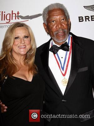 Lori Mccreary, Morgan Freeman and Beverly Hilton Hotel