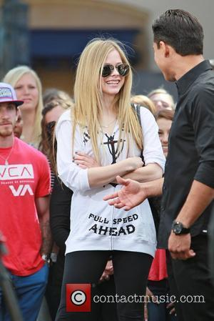 Avril Lavigne at The Grove to appear on the Entertainment News Programme, 'Extra'  Los Angeles, California - 13.03.12