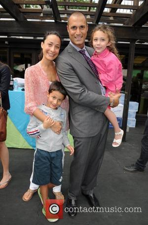 Crissy Barker, Nigel Barker, Jasmine Barker, Jack Barker 2012 Baby Buggy Bedtime Bash held at the Victorian Gardens at the...