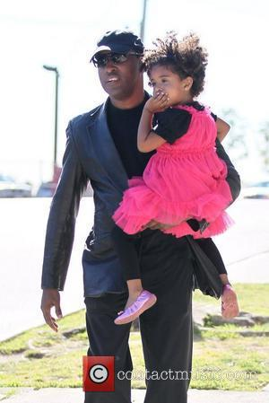 Singer Babyface and his daughter are seen out and about in Brentwood Los Angeles, California - 04.02.12