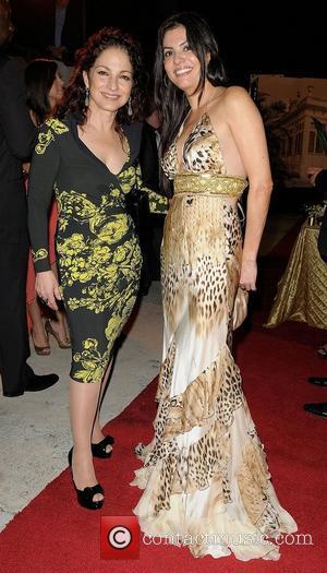 Gloria Estefan and Adriana De Moura leaving the Bacardi 150th Anniversary Celebration on January 28, 2012 in Miami, Florida. (Photo...