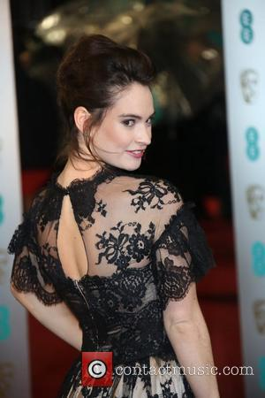 Lily James The 2013 EE British Academy Film Awards held at the Royal Opera House - Arrivals  Featuring: Lily...