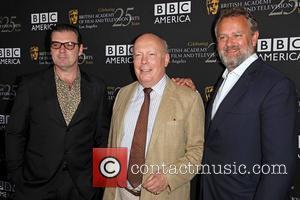 Brendan Coyle, Julian Fellowes and Hugh Bonneville