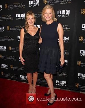 Edie Falco and Anna Gunn BAFTA Los Angeles TV Tea 2012 presented by BBC America - Arrivals Los Angeles, California...