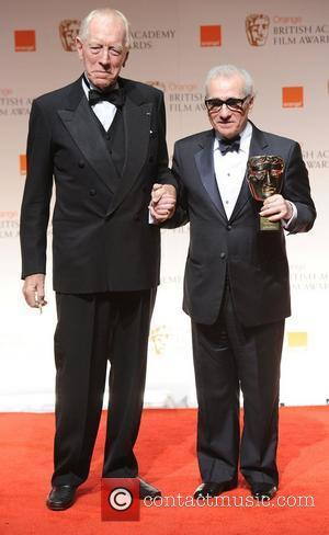 Max Von Sydow and Martin Scorsese,  Orange British Academy Film Awards (BAFTAs) held at the Royal Opera House -...