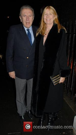 Sir David Frost,  at the launch of 'The Bag Issue' at The House of St. Barnabas - Outside Arrivals...