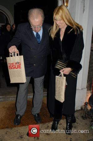 Sir David Frost,  at the launch of 'The Bag Issue' at The House of St. Barnabas - Departures London,...