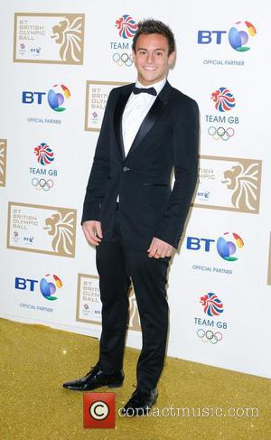 Tom Daley BT British Olympic Ball held at the Grosvenor House - Arrivals London, England - 30.11.12