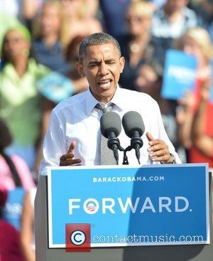 President Barack Obama  speaks during a grassroots campaign event at Delray Tennis Center for the Barack Obama re-election campain,...