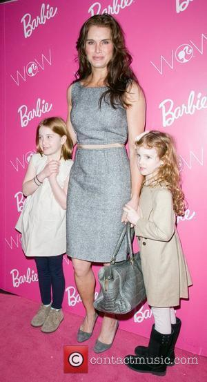 Brooke Shields, Rowan Francis Henchy and Grier Francis Henchy  visting Barbie - The Dream Closet at the David Rubenstein...