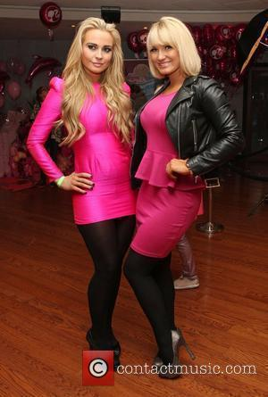 Amanda Harrington from Desperate Scousewives and Sam Faiers Barbie: A Mermaid's Tale 2- backstage London, England - 12.02.12
