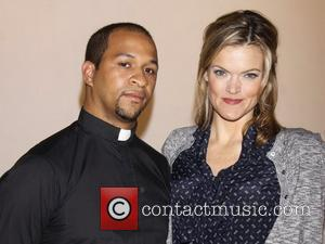 Jerold E. Solomon and Missi Pyle  The cast of the Off-Broadway musical 'Bare' at a special photo/video shoot, held...