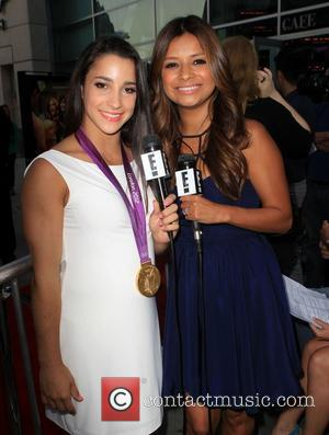 Aly Raisman, Kristina Guerrero  at the premiere of RADiUS-TWC's 'Bachelorette' at ArcLight Cinemas Hollywood, California - 23.08.12