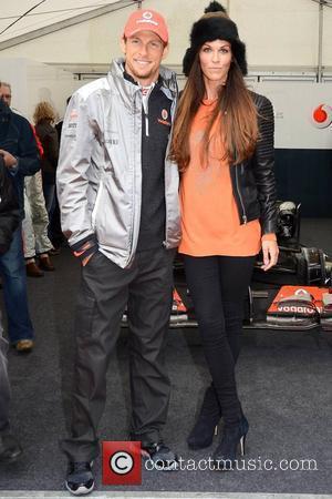Jenson Button and Glenda Gilson
