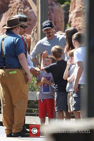 David Beckham and family,  Beckham family on a day out to Disneyland. Los Angeles, California - 06.06.12
