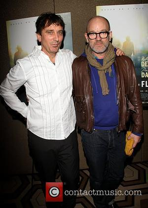 Nick Flynn and Michael Stipe  Attending a screening of Being Flynn at The Tribeca Grand Hotel  New York...
