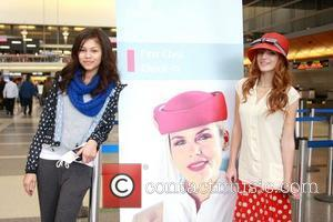 Disney stars Zendaya and Bella Thorne pose for pictures at LAX Airport before heading to Dubai Los Angeles, California -...