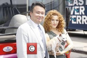 David Chien and Bernadette Peters attend Gray Line New York's Ride of Fame campaign at Pier 78. New York City,...