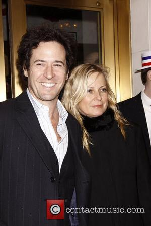 Rob Morrow and his wife Debbon Awer Broadway opening night of Gore Vidal's 'The Best Man' at the Gerald Schoenfeld...