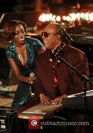 Estelle and Stevie Wonder