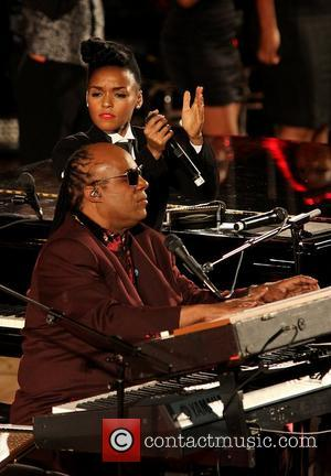 Janelle Monae and Stevie Wonder