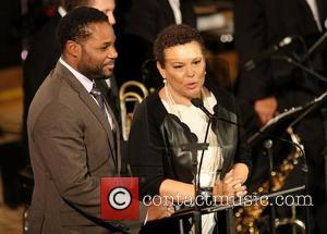 Malcolm Jamal Warner and Debra Lee BET 2012 UN Day 'A Message of Peace' concert, held at the UN Headquarters...