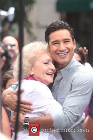Betty White and Mario Lopez