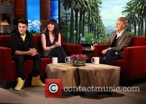Carly Rae Jepsen, Ellen Degeneres and Justin Bieber