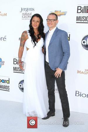 Chester Bennington (Linkin Park), Talinda Ann Bentley 2012 Billboard Music Awards, held at MGM Grand Garden Arena - Arrivals Las...