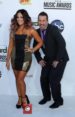 Lacey Schwimmer and Joey Fatone