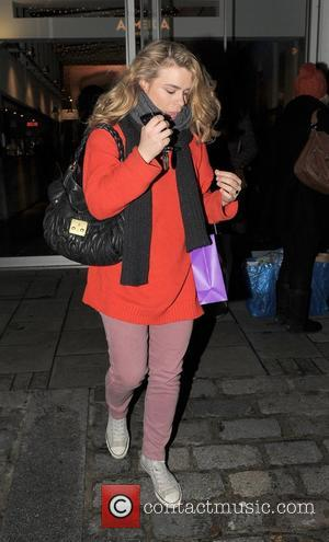 Pregnant Billie Piper leaves The Almeida Theatre after performing in the play 'Reasons To Be Pretty' London, England - 23.12.11