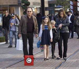 Billy Crystal seen with his wife Janice Crystal and grandchildren Christmas shopping at The Grove Los Angeles, California- 21.12.12