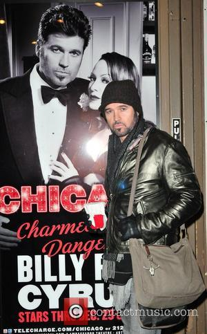 Billy Ray Cyrus arrives at the Ambassador Theatre for his Broadway performance in the musical 'Chicago'  New York City,...