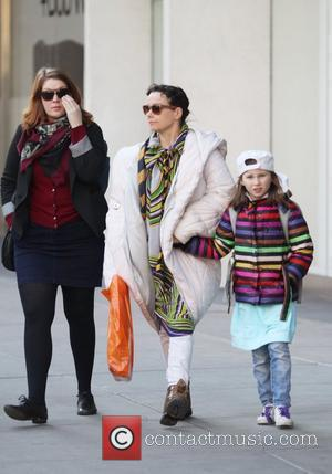Icelandic singer Bjork and her daughter Isadora are seen walking in Soho New York City, USA - 06.03.12