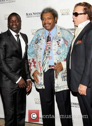 Akon, Don King and Mickey Rourke