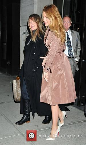 'Gossip Girl' Blake Lively is seen out and about in Manhattan wearing a stylish trench coat and Christian Louboutin heels...