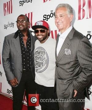Randy Jackson, Jermaine Dudpri and Del Bryant The 12th Annual BMI Urban Awards at the Saban Theatre  Beverly Hills,...