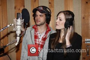 Jeremy Jordan and Laura Osnes  The cast recording session of the Broadway musical 'Bonnie and Clyde' held at Avatar...