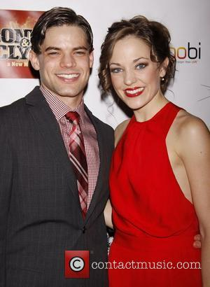 Jeremy Jordan and Laura Osnes  Opening night after party for the Broadway production of 'Bonnie and Clyde' held at...