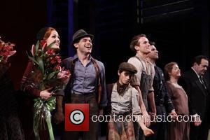 Laura Osnes, Jeremy Jordan, Talon Ackerman, Claybourne Elder, Louis Hobson and Cast Opening night of the Broadway production of 'Bonnie...