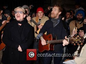Bono, Glen Hansard and Stephen Park
