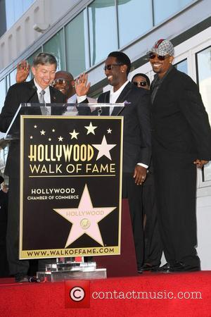 The Group 'Boyz II Men' are honored with the year's first star on the Hollywood Walk of Fame Los Angeles,...