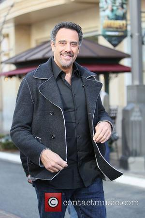 Brad Garrett Brad Garrett seen at the Grove for an appearance with Maria Menounos on the entertainment news show 'Extra'...