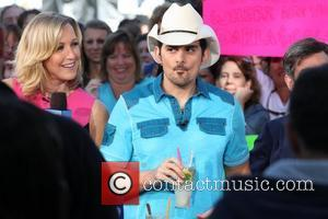 Brad Paisley performs on ABC's 'Good Morning America' as part of their Summer Concert Series at Rumsey Playfield in Central...